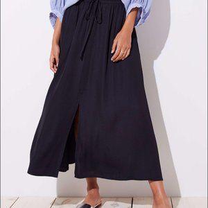 LOFT Slit Drawstring Pocket Maxi Skirt Small